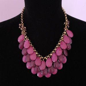 "3 Tone Layered Purple 18"" Beaded Necklace"